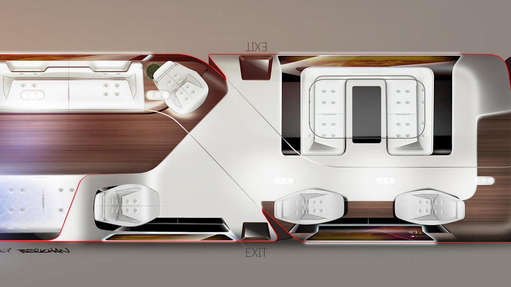 executive jet cabin layout