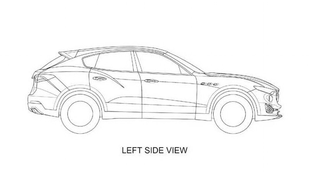 Maserati Levante patent drawing left side