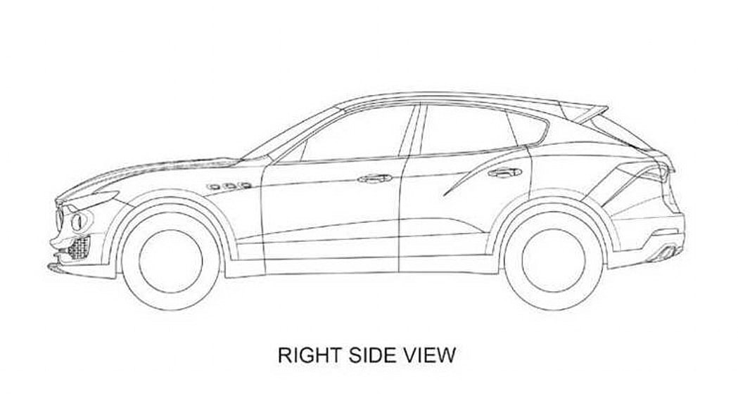 Maserati Levante patent drawing right side