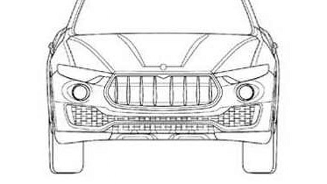 Maserati Levante patent drawing front