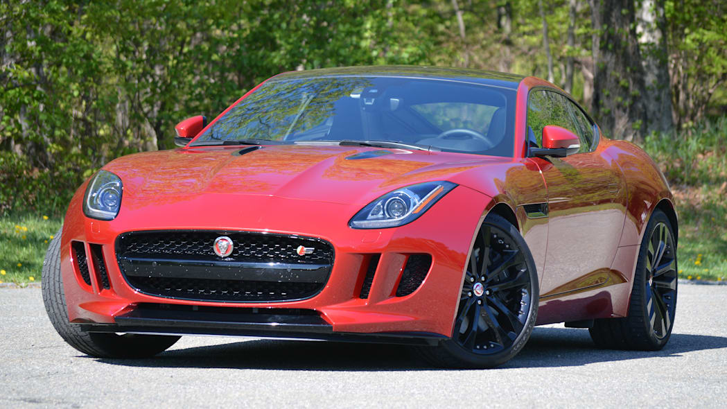 2016 Jaguar F-Type S Coupe red front tight