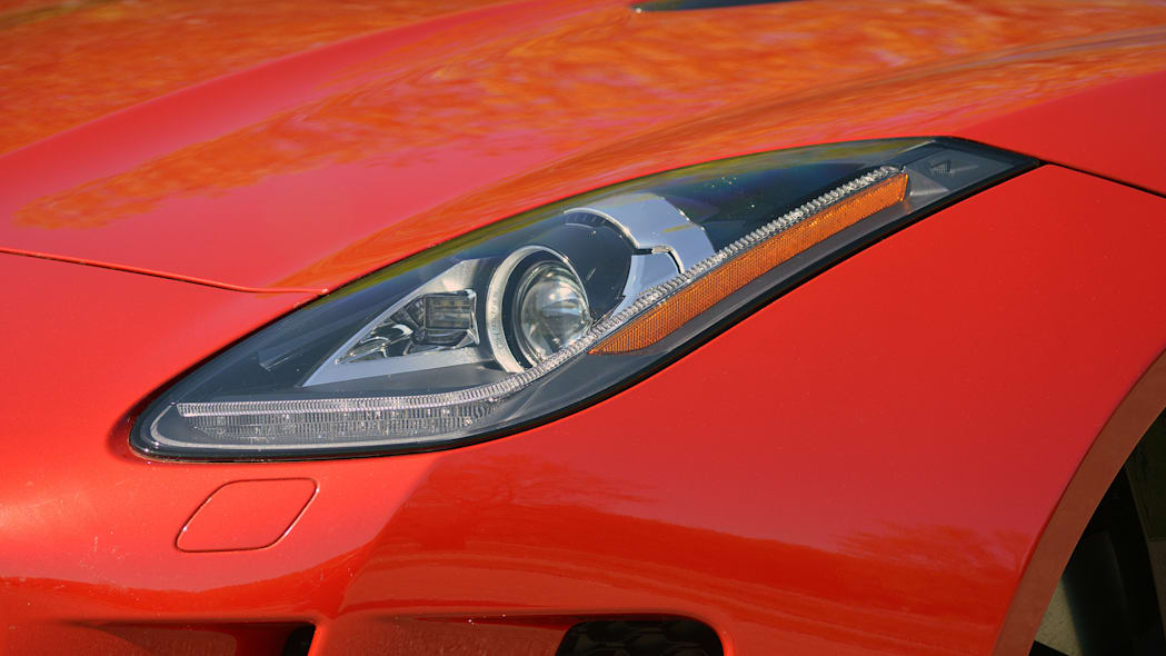 2016 Jaguar F-Type S Coupe red headlight detail