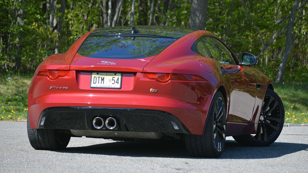 2016 Jaguar F-Type S Coupe red rear tight