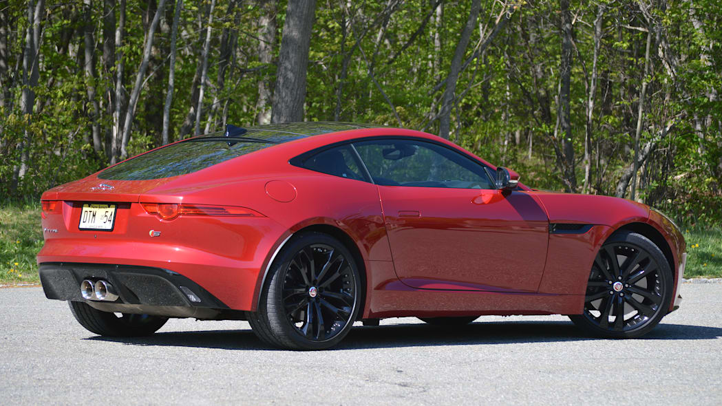 2016 Jaguar F-Type S Coupe red rear