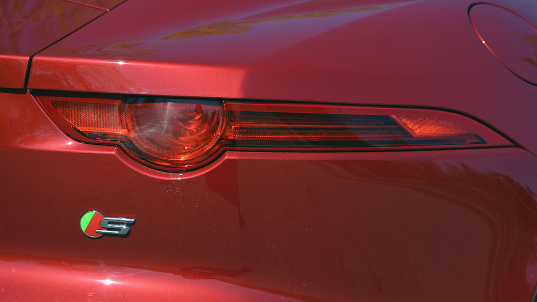2016 Jaguar F-Type S Coupe red taillight detail