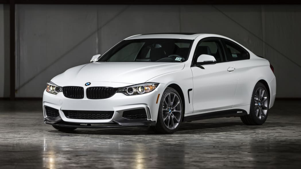BMW 435i ZHP Edition Coupe front 3/4 indoors hangar