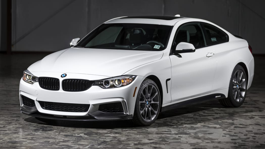 BMW 435i ZHP Edition Coupe front top 3/4 indoors hangar
