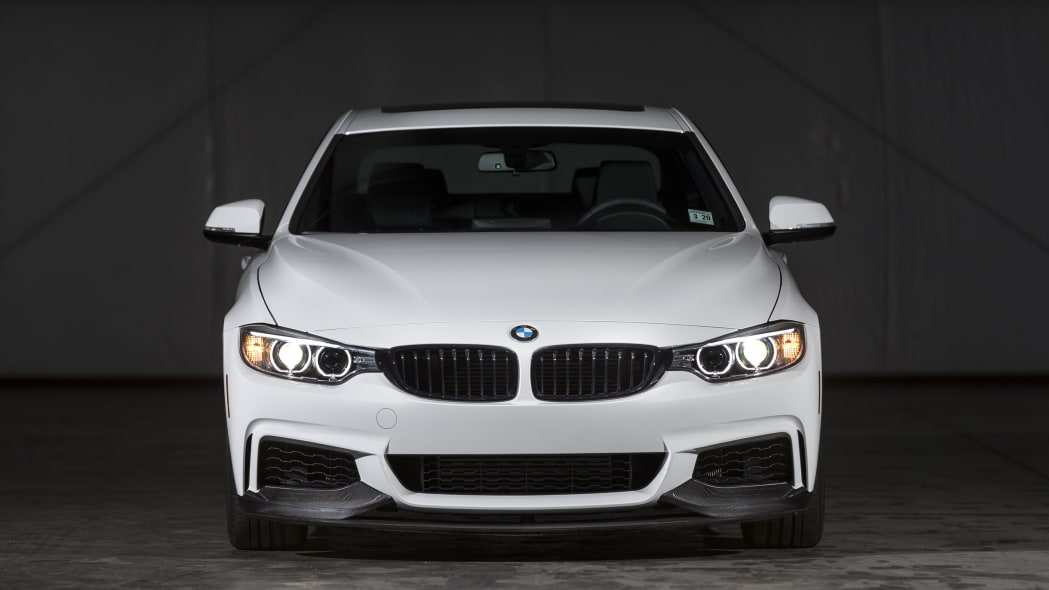 BMW 435i ZHP Edition Coupe front indoors hangar