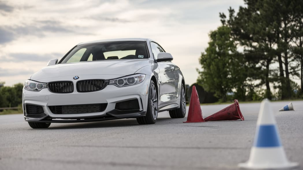 BMW 435i ZHP Edition Coupe front 3/4 track autocross