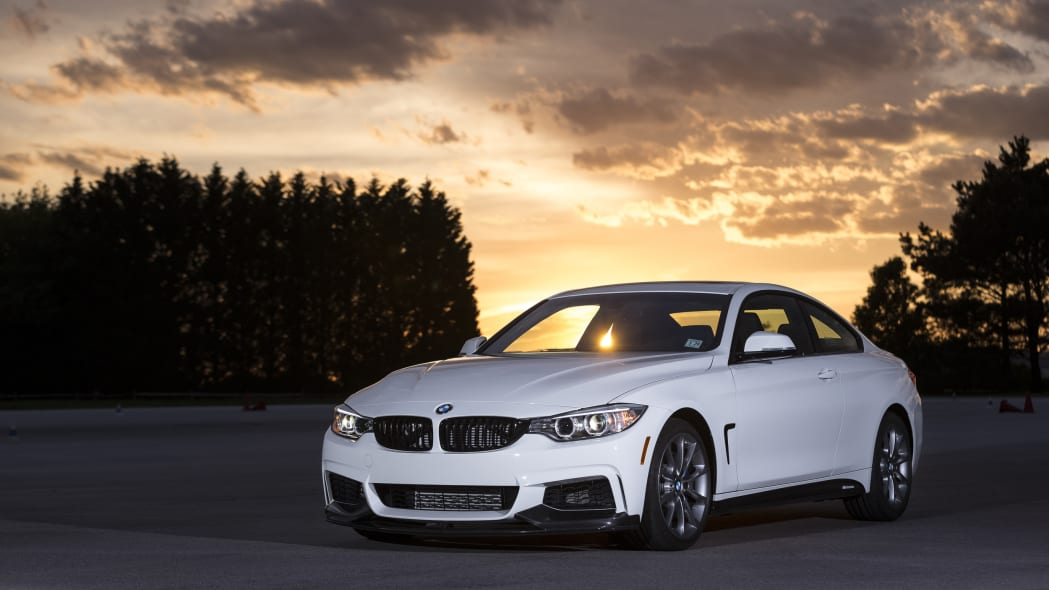 2016 BMW 435i ZHP Edition Coupe front 3/4 sunset