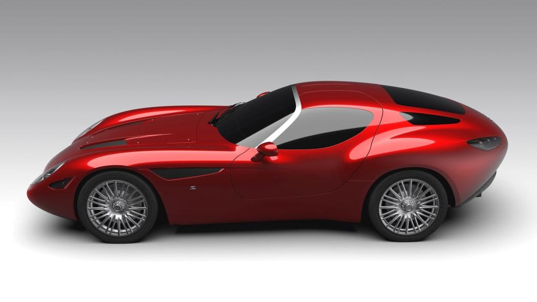 Maserati Mostro by Zagato rendering side top