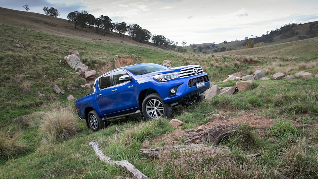2016 Toyota HiLux pickup truck climbing