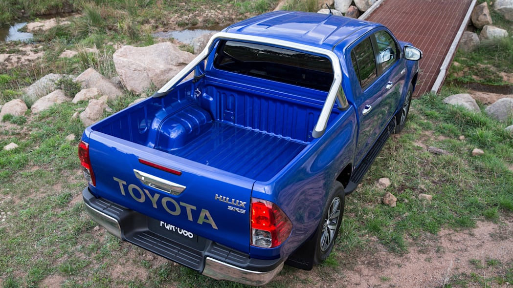2016 Toyota HiLux pickup bed above