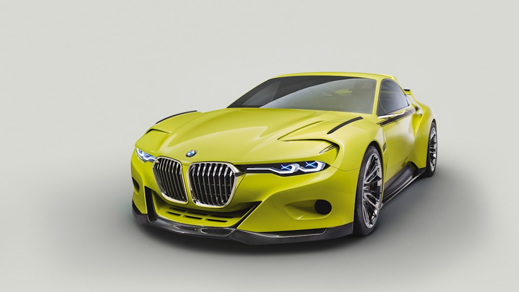 golf yellow bmw 3.0 csl hommage front blank back