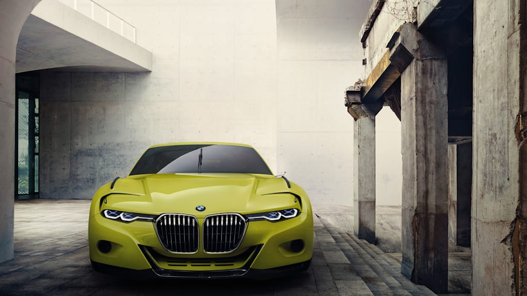 golf yellow bmw 3.0 csl hommage front
