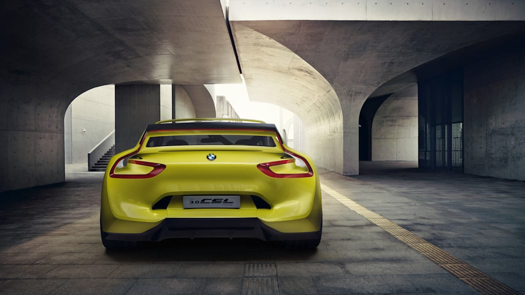 golf yellow bmw 3.0 csl hommage back end