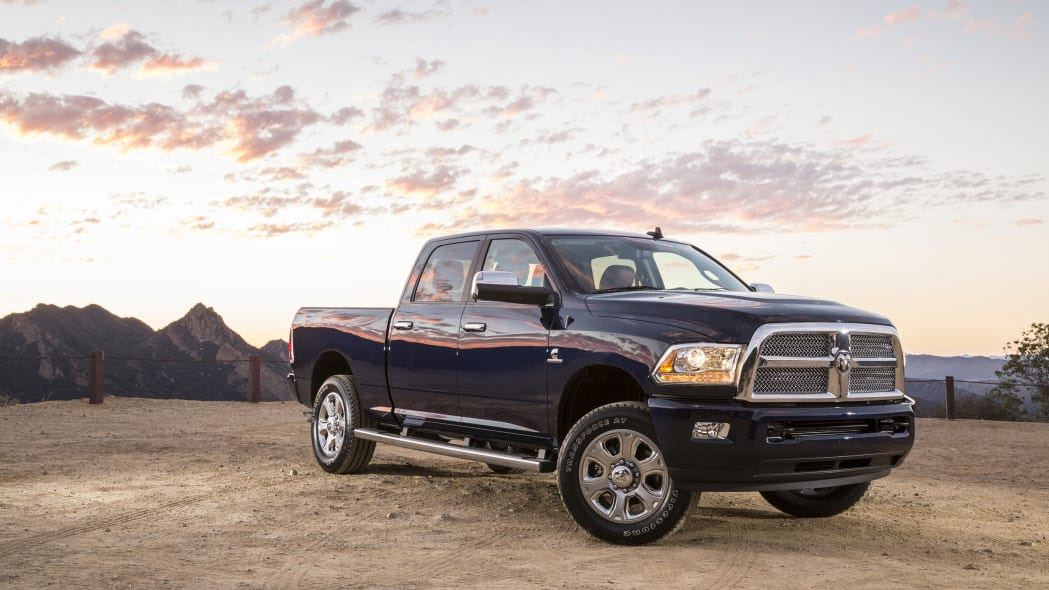 2015 Ram Heavy Duty in blue at sunset
