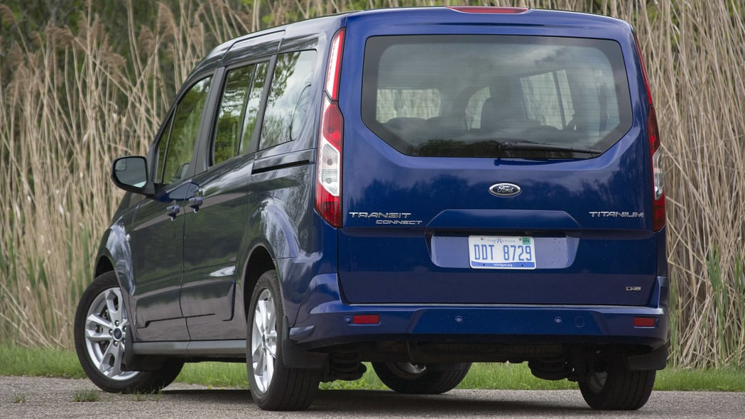 2015 Ford Transit Connect Wagon rear 3/4 view