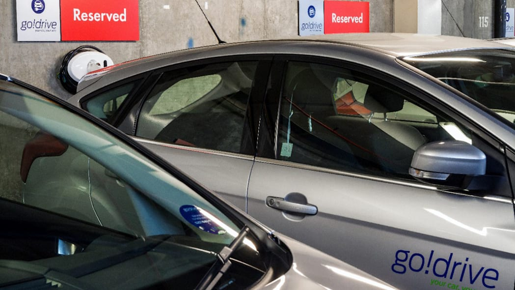 ford godrive carsharing in london decal