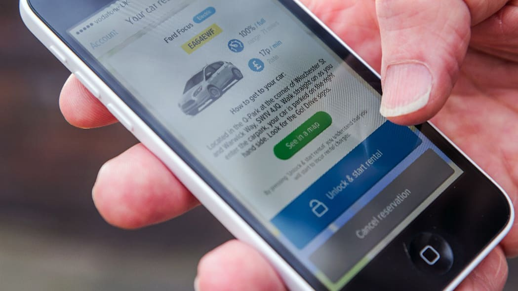 ford godrive carsharing in london smartphone app