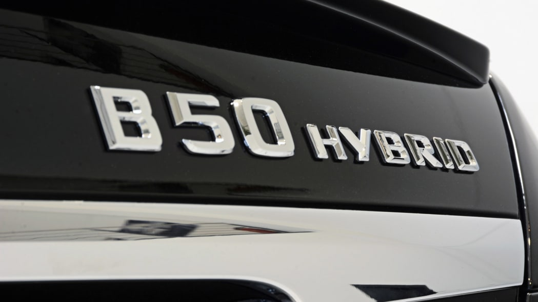 B50 Hybrid trunklid nameplate