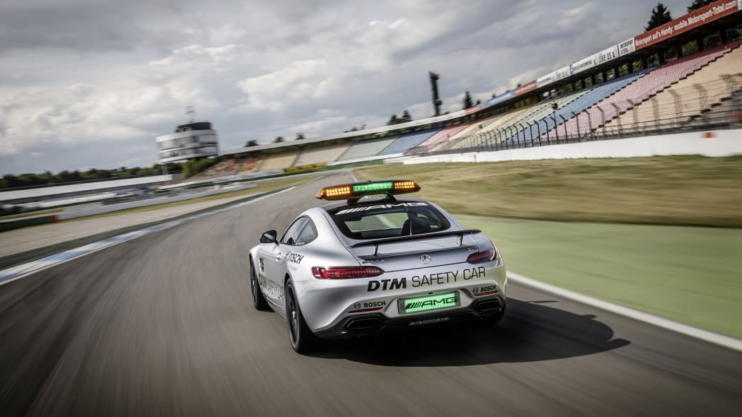 Mercedes-AMG GT DTM Safety Car track rear 3/4