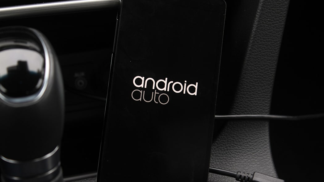 The Android Auto screen on a handset when connected to the car.
