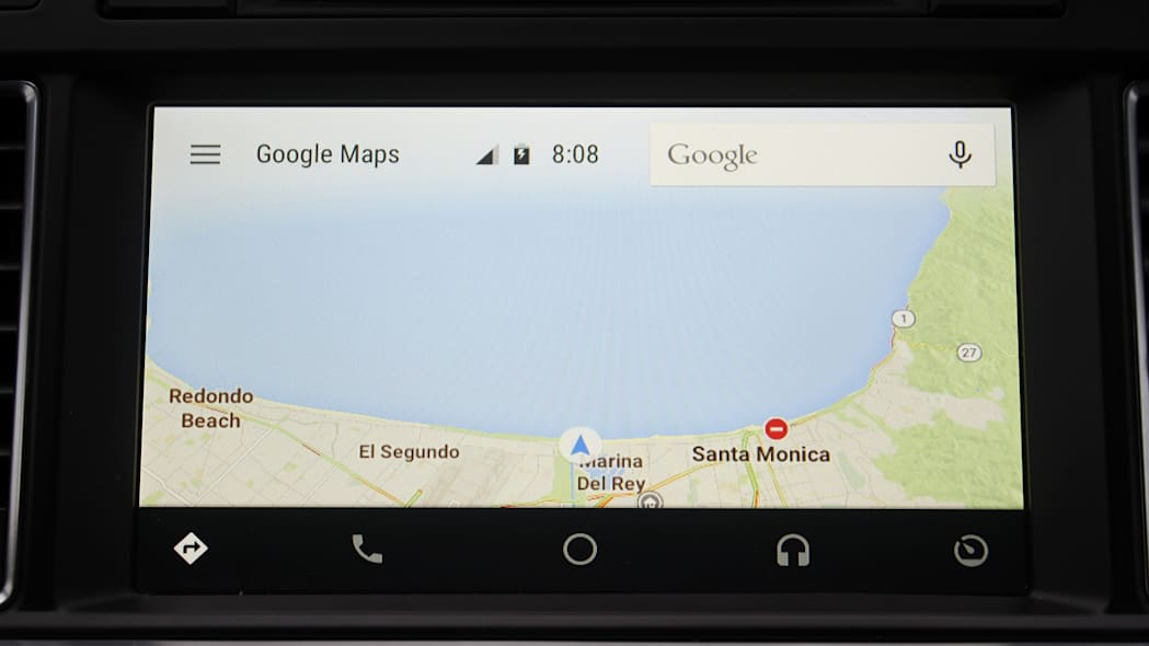 Google Maps inside the Android Auto operating system.