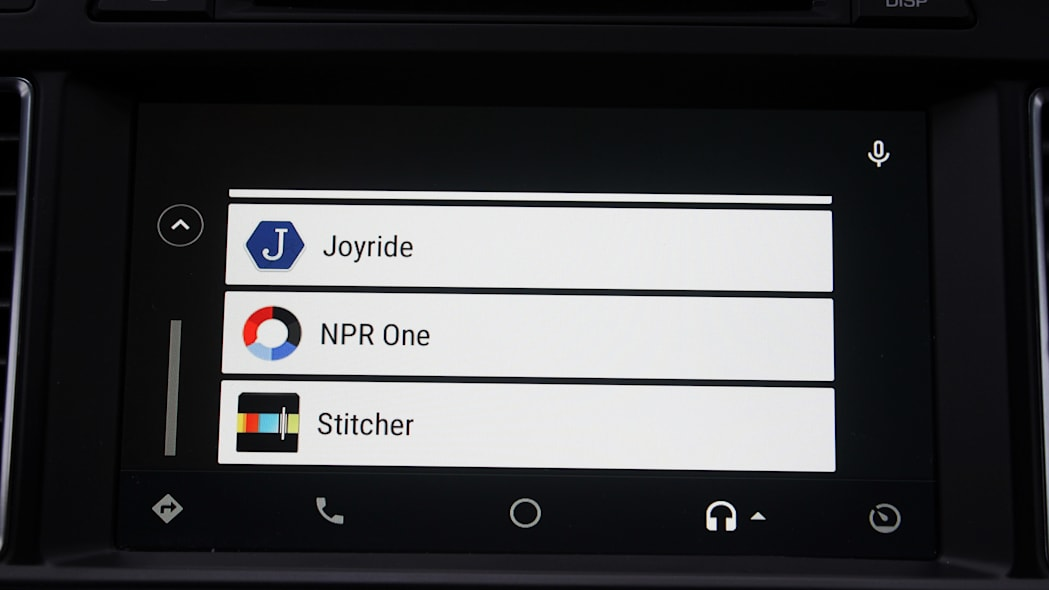 A few of the apps available in Android Auto.