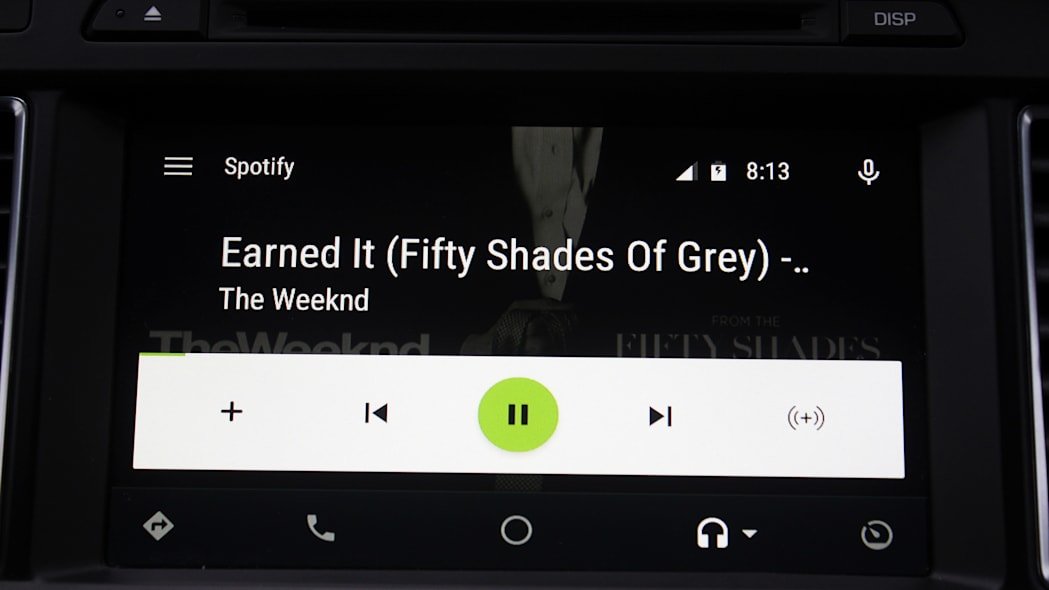 The Spotify app inside Android Auto.