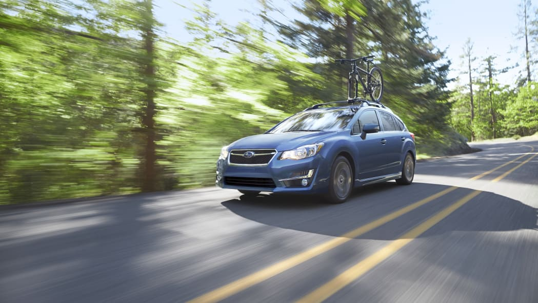 2015 Subaru Impreza five-door hatchback blue