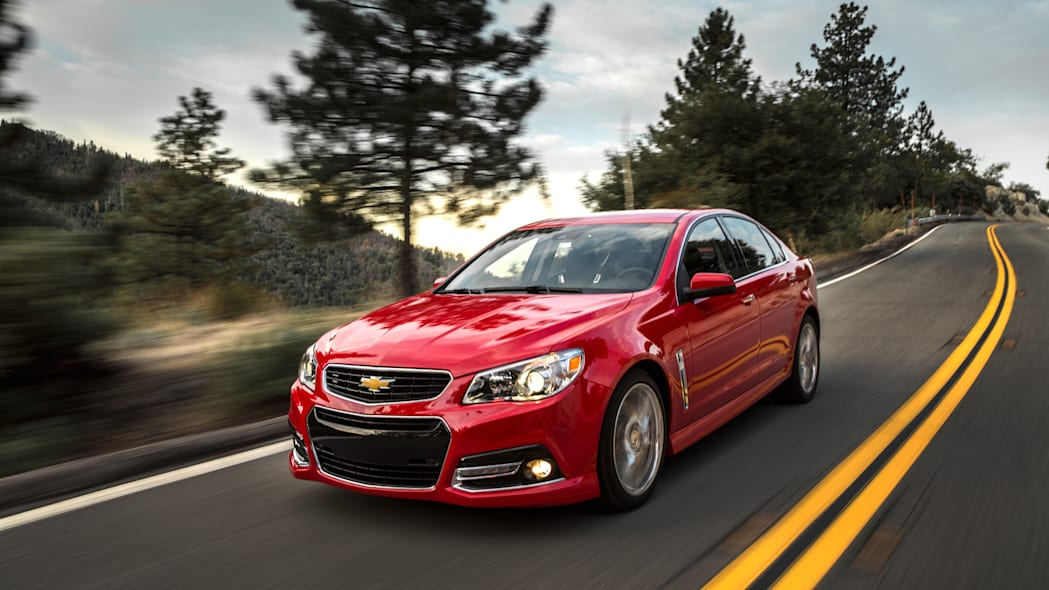 2015 Chevrolet SS in red