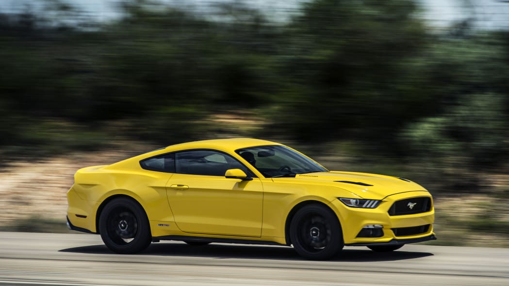 yellow hennessey performance hpe750 mustang run