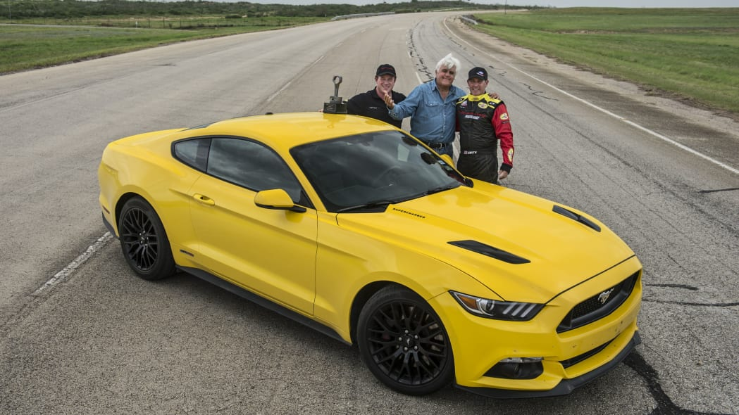 yellow hennessey performance hpe750 mustang with driver