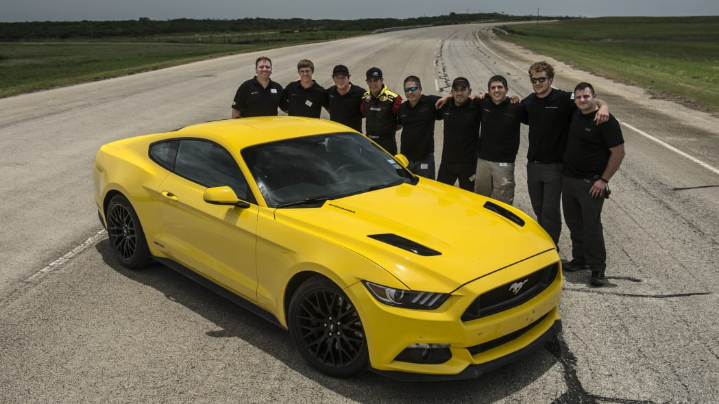 yellow hennessey performance hpe750 mustang team