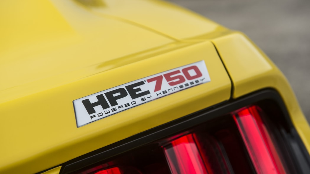 yellow hennessey performance hpe750 mustang model name