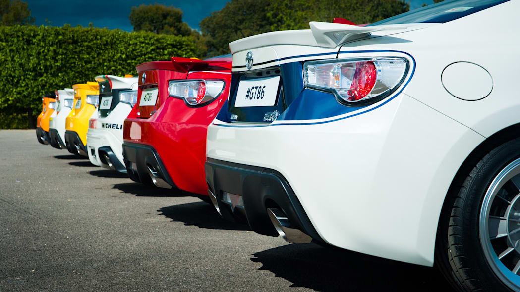 Toyota GT86 in classic liveries rear
