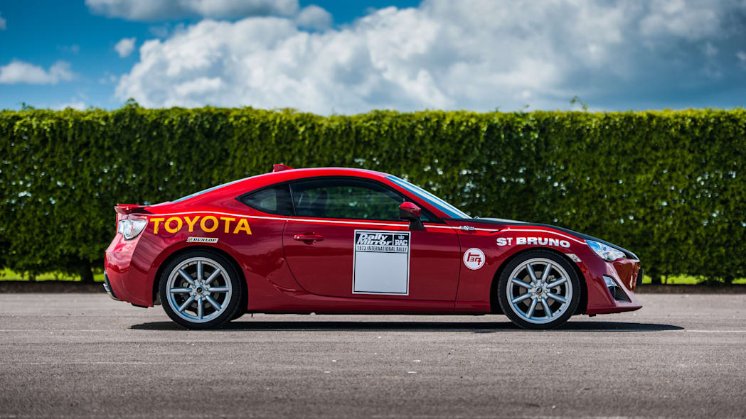 Toyota GT86 in Ove Andersson livery side