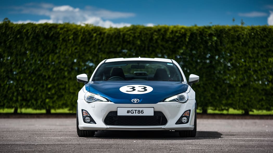 Toyota GT86 in Shelby livery front