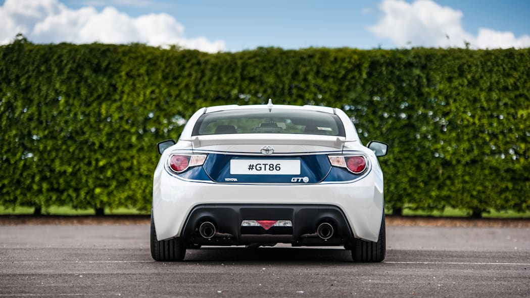 Toyota GT86 in Shelby livery rear