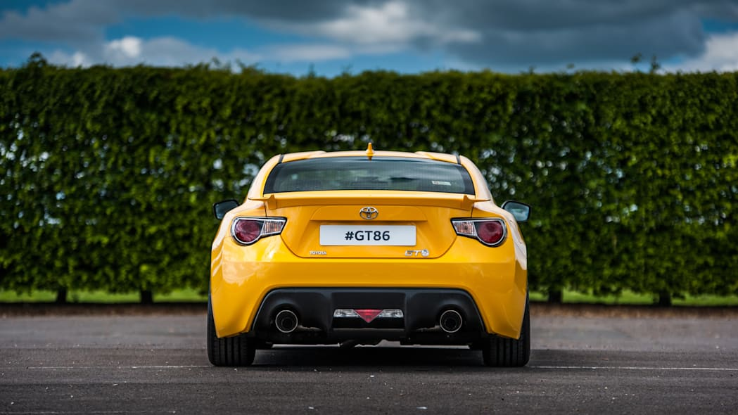 Toyota GT86 in Yatabe Speed Trial retro livery rear