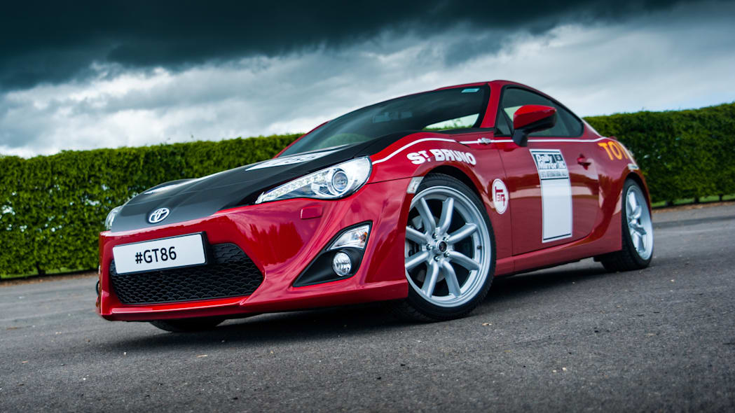 Toyota GT86 in Ove Andersson livery front 3/4