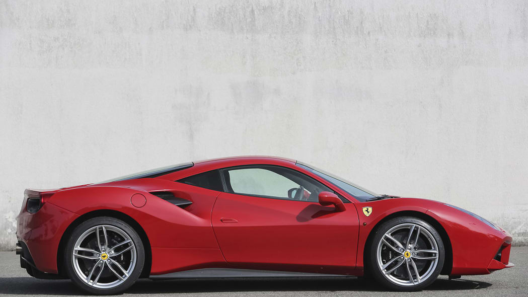 2016 Ferrari 488 GTB side view