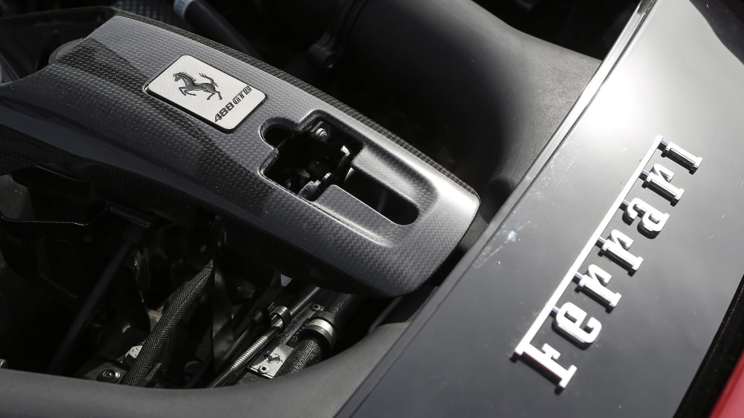 2016 Ferrari 488 GTB engine detail