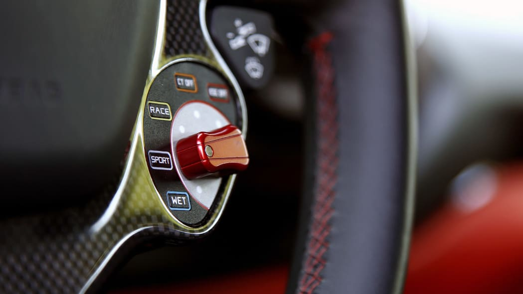 2016 Ferrari 488 GTB drive mode controls