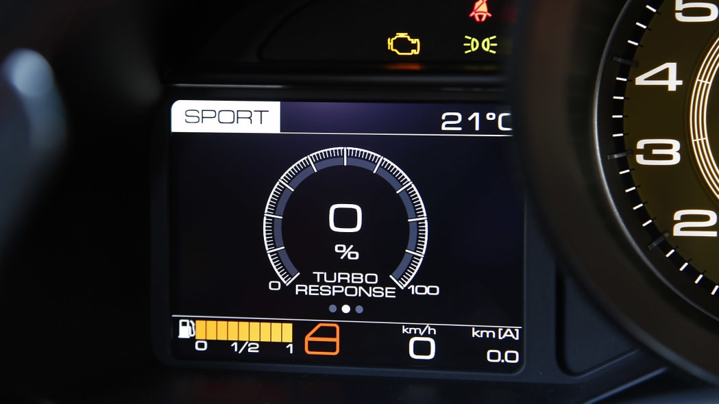 2016 Ferrari 488 GTB gauges