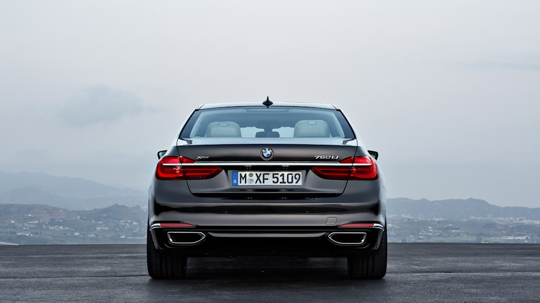 back parked 7 series 2016 bmw
