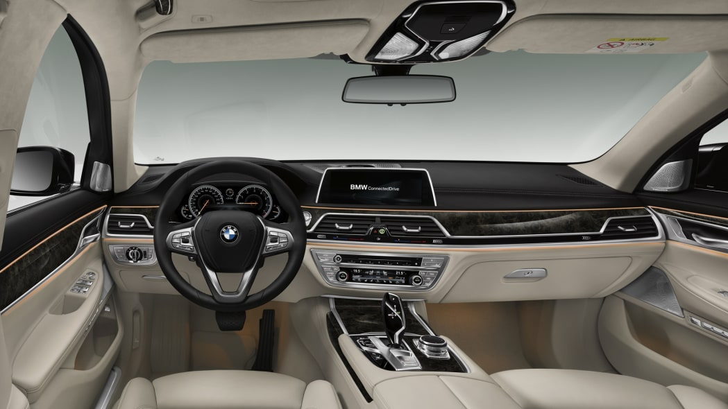 bmw 7 series wood leather luxury cabin