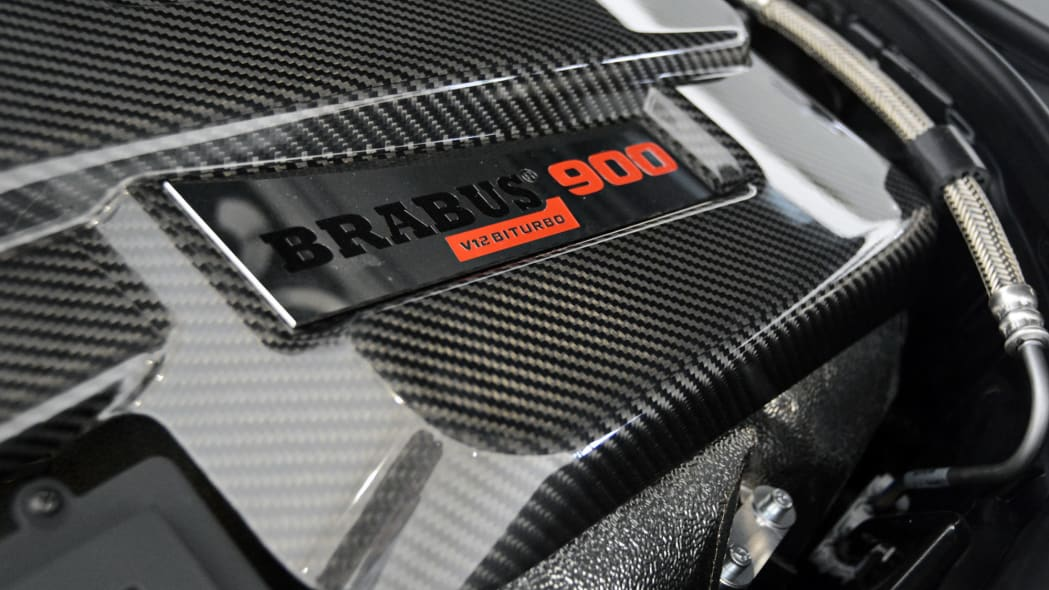 Mercedes-Maybach S600 Brabus engine logo