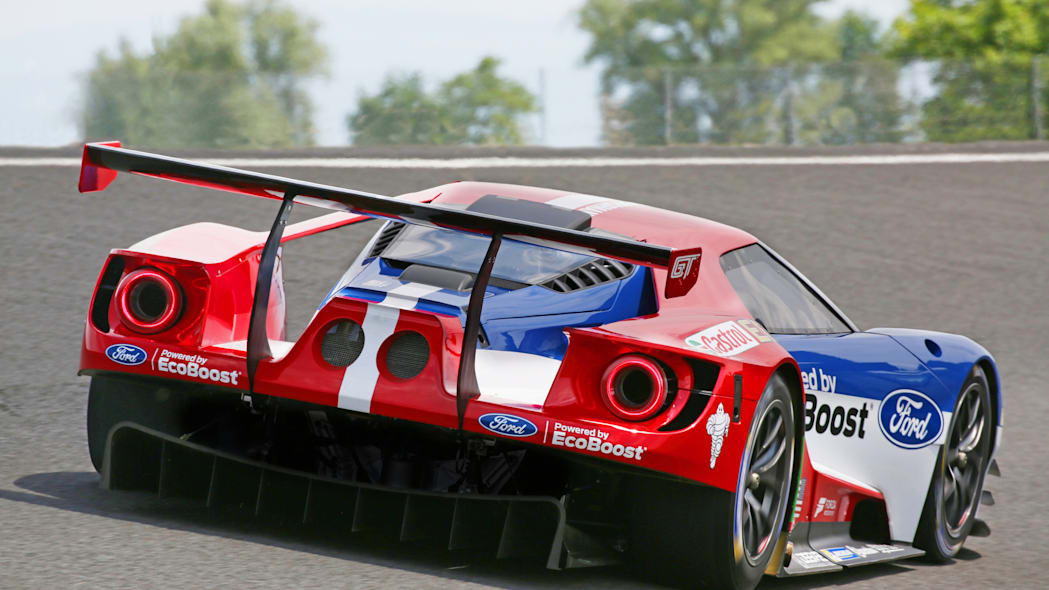 Ford GT LM GTE Pro on track rear 3/4